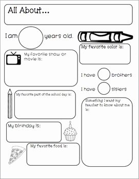 All About Me Worksheet Beautiful All About Me Worksheet by Peachy Teachin with Ms Ponn