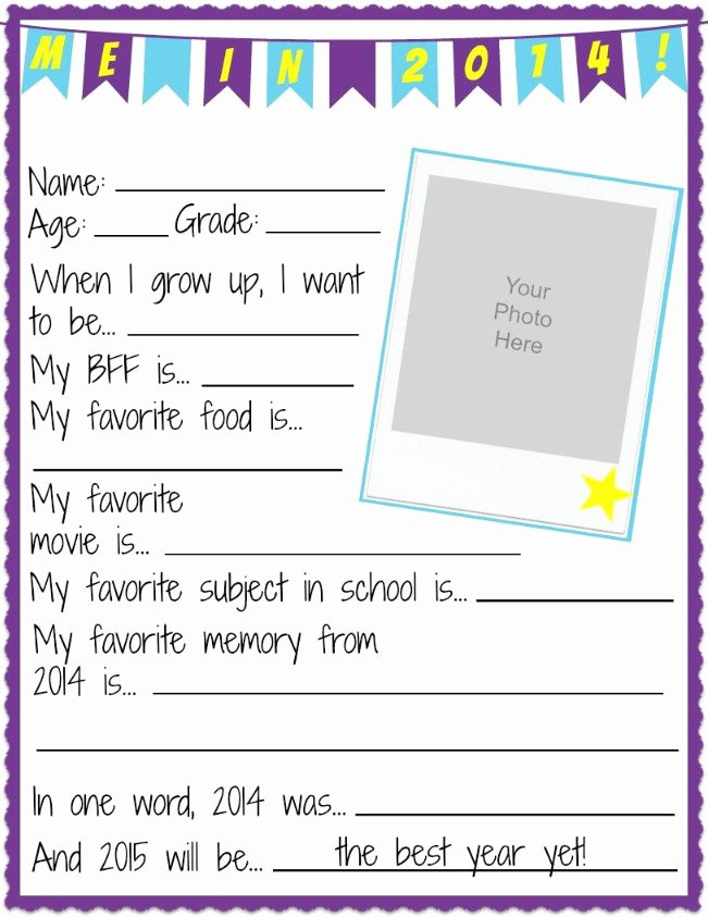 All About Me Worksheet Beautiful Nye All About Me Printable Worksheets