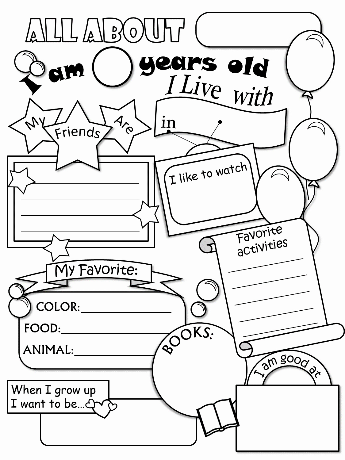 All About Me Worksheet Best Of All About Me Worksheet