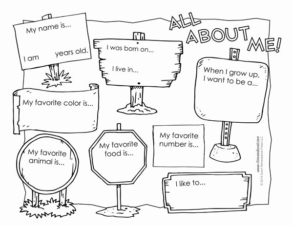 All About Me Worksheet Best Of All About Me Worksheet Printable