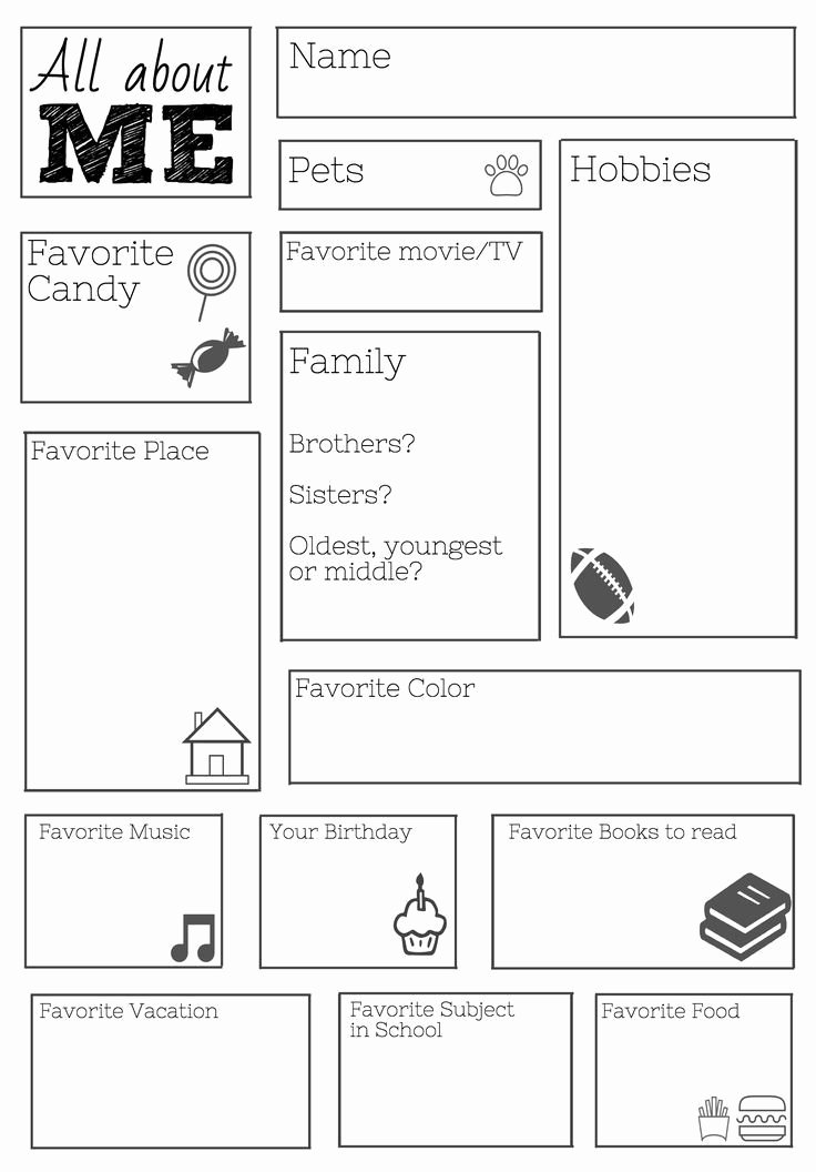 All About Me Worksheet Elegant 25 Best Ideas About All About Me On Pinterest