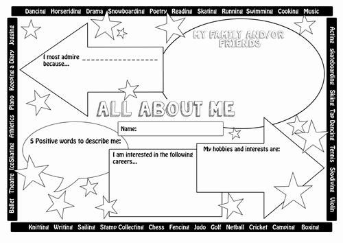 All About Me Worksheet Inspirational 33 Pedagogic All About Me Worksheets