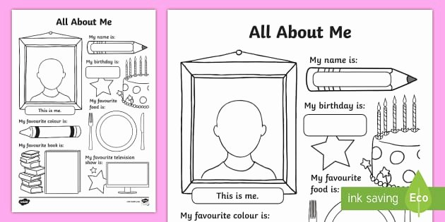 All About Me Worksheet Inspirational All About Me Worksheet