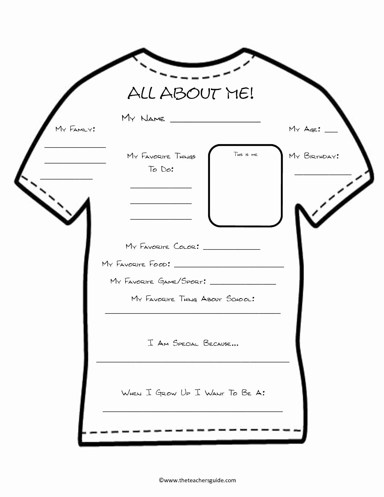 All About Me Worksheet Lovely About Me Worksheet Teach Me Pinterest