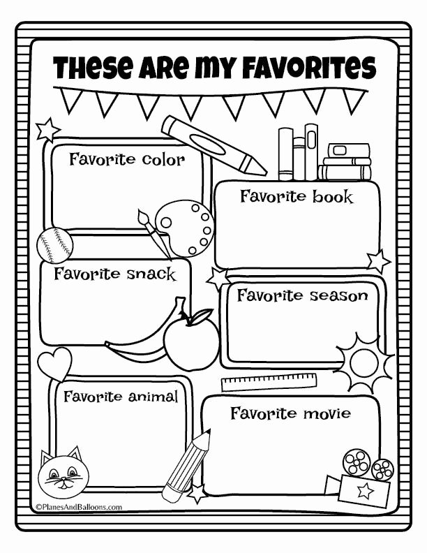 All About Me Worksheet Lovely All About Me Worksheets Fall Preschool Activities