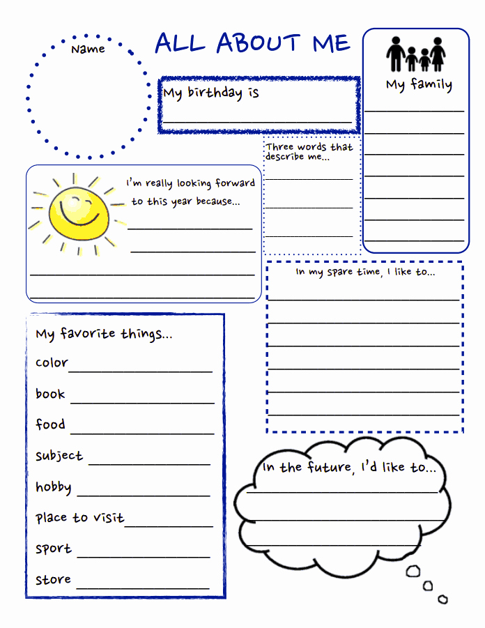 All About Me Worksheet New All About Me Pdf School Stuff Pinterest