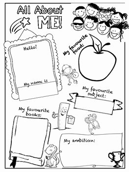 All About Me Worksheet Pdf Awesome All About Me Worksheet by Liza Rohmat