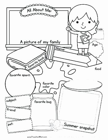 All About Me Worksheet Pdf Beautiful All About Me Worksheet Free Pdf the Best Worksheets Image