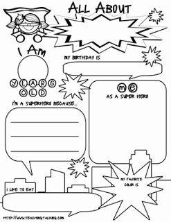 All About Me Worksheet Pdf Beautiful Speechie Freebies Superhero All About Me