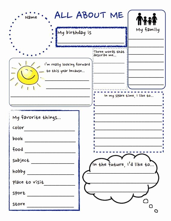 All About Me Worksheet Pdf Best Of All About Me Pdf Teaching