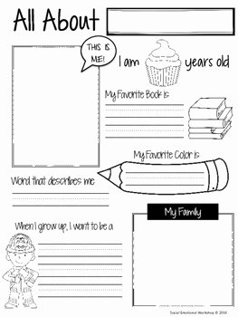 All About Me Worksheet Pdf Best Of Free All About Me Worksheet by social Emotional Workshop