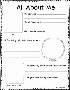 All About Me Worksheet Pdf Elegant 1000 Images About All About Me On Pinterest