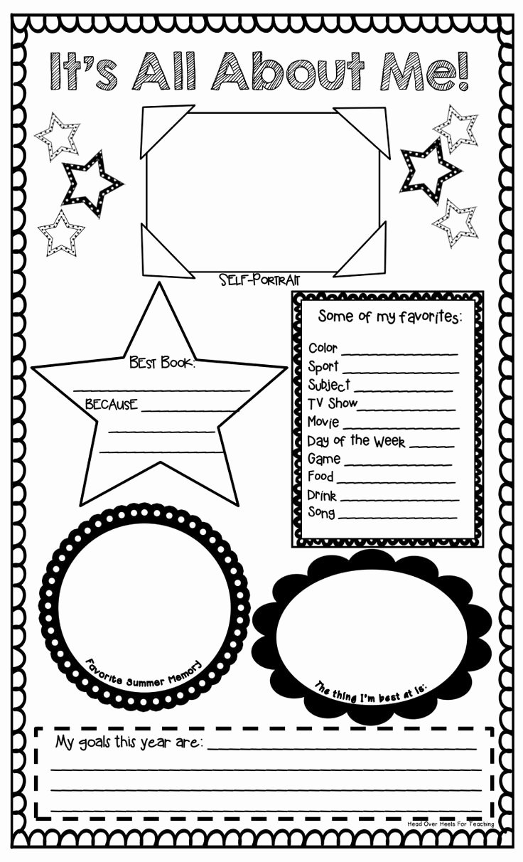 All About Me Worksheet Pdf Inspirational 71 Best Images About All About Me Poster Ideas On