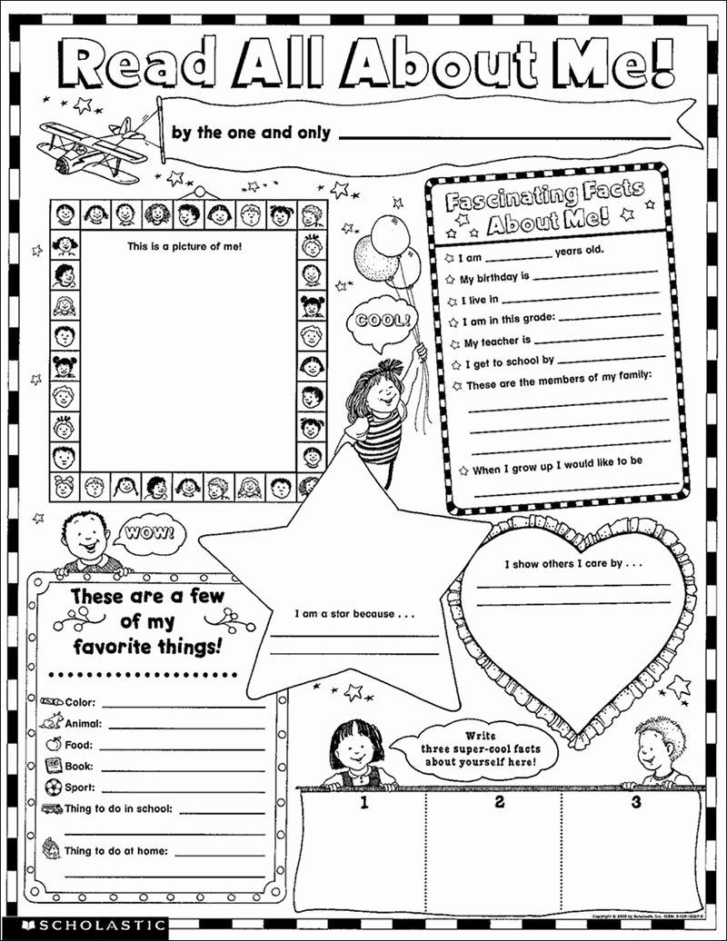 All About Me Worksheet Pdf Inspirational Scholastic