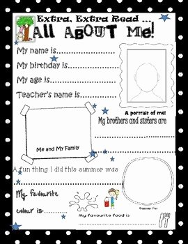 All About Me Worksheet Pdf Luxury All About Me Worksheet by the Art Of Mrs M