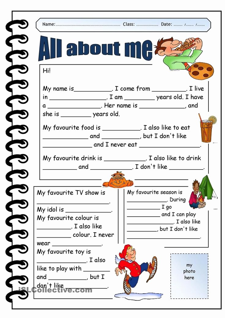 All About Me Worksheet Pdf New 25 Best Ideas About All About Me On Pinterest