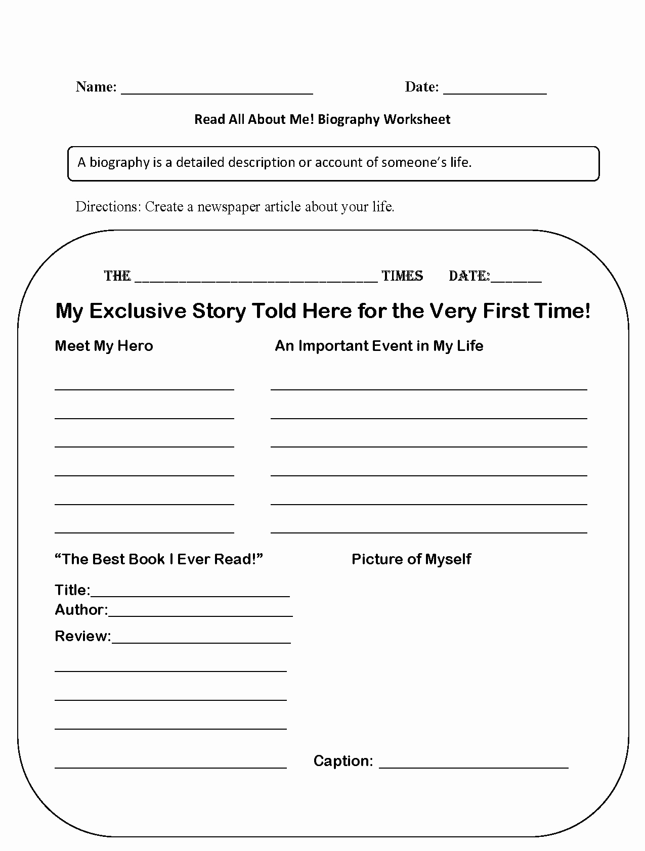 All About Me Worksheet Pdf New All About Me Worksheet Free Pdf the Best Worksheets Image