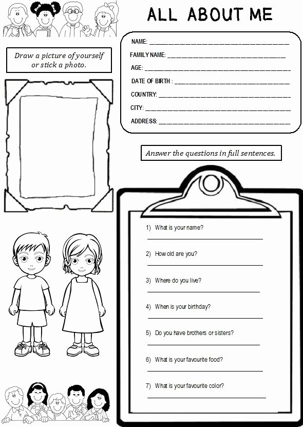 All About Me Worksheet Pdf New Enjoy Teaching English All About Me Worksheet