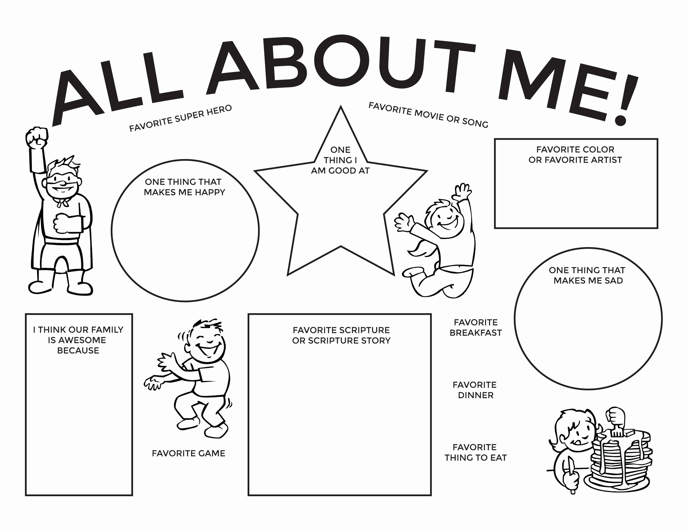 All About Me Worksheet Pdf Unique July 2015