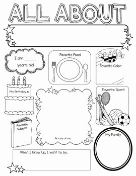 All About Me Worksheet Preschool Awesome All About Me Poster by Kelly Cook