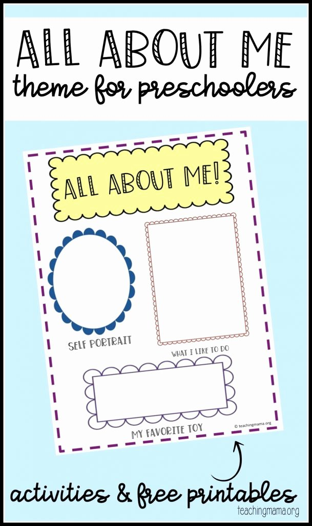 All About Me Worksheet Preschool Awesome All About Me Preschool theme