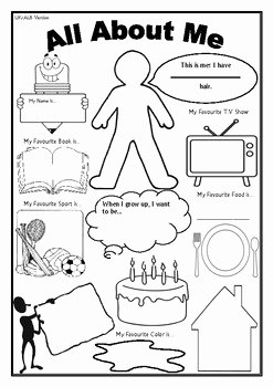 All About Me Worksheet Preschool Beautiful All About Me Worksheet First Day Of School Activity