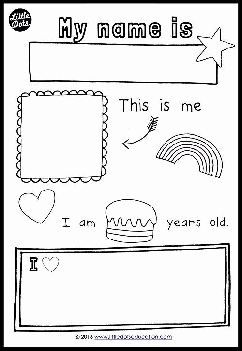 All About Me Worksheet Preschool Beautiful Free All About Me theme Printable for Preschool Pre K or