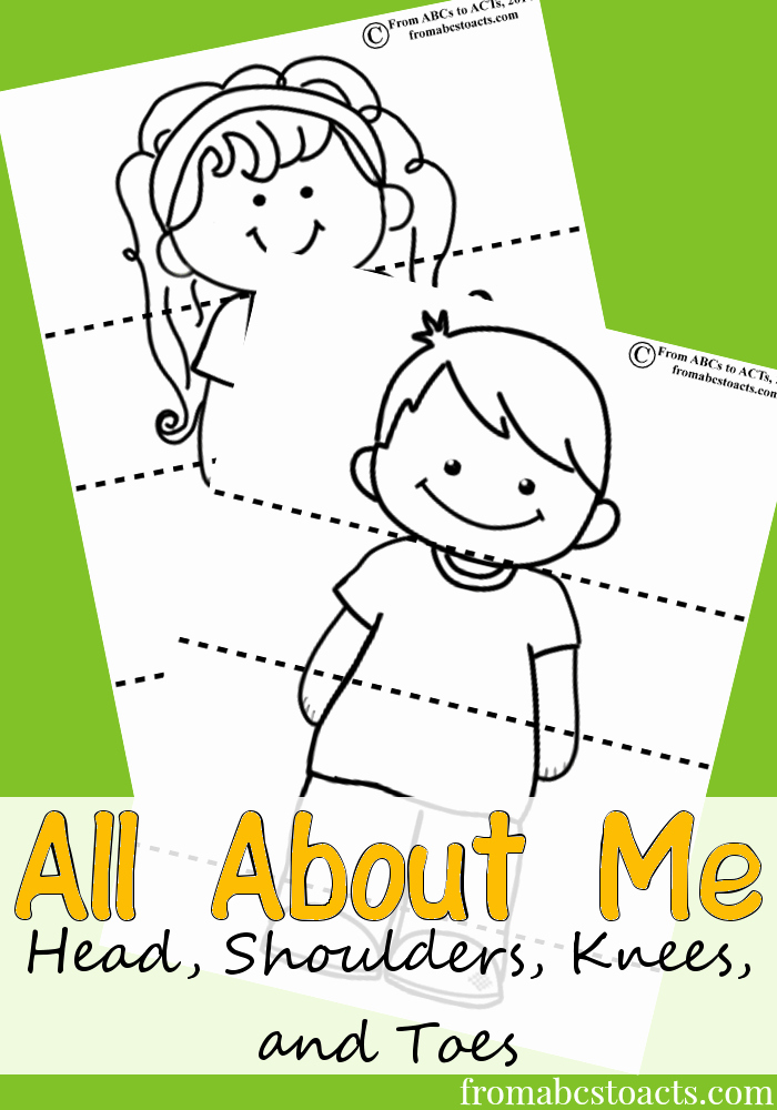 All About Me Worksheet Preschool Beautiful Head Shoulders Knees and toes From Abcs to Acts