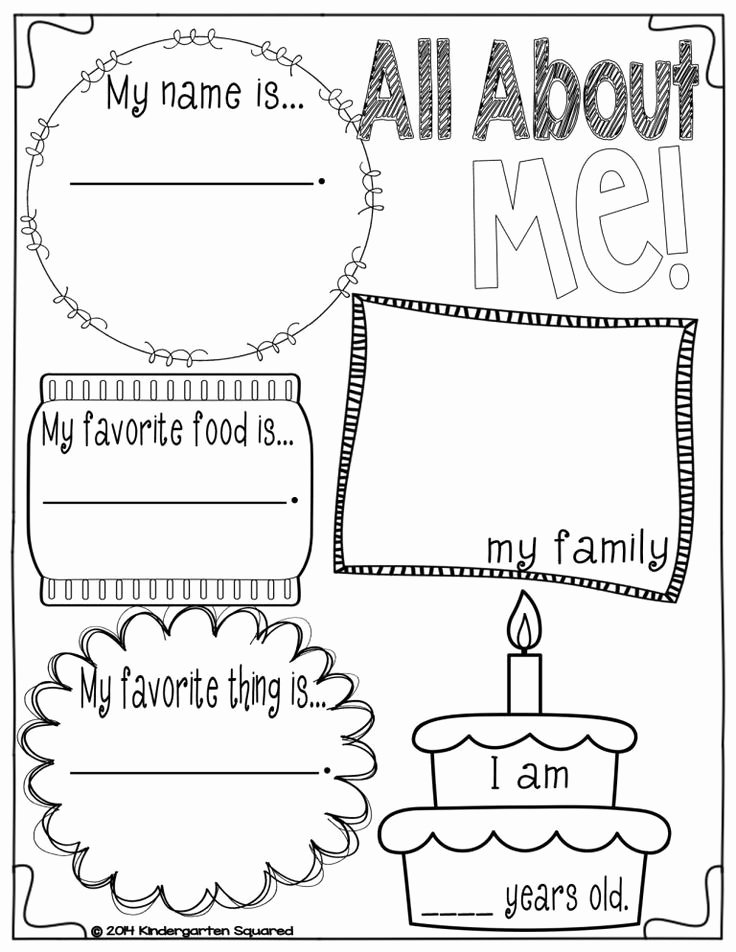 All About Me Worksheet Preschool Best Of 51 Best Images About All About Me Folder On Pinterest