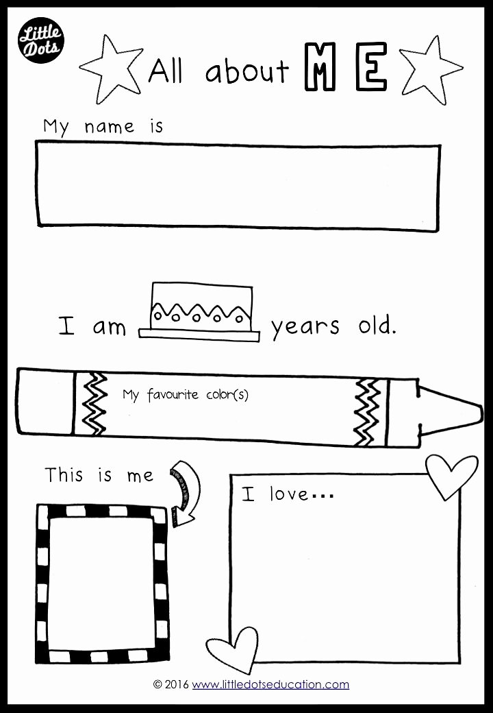 All About Me Worksheet Preschool Elegant Best 25 Me Preschool theme Ideas On Pinterest
