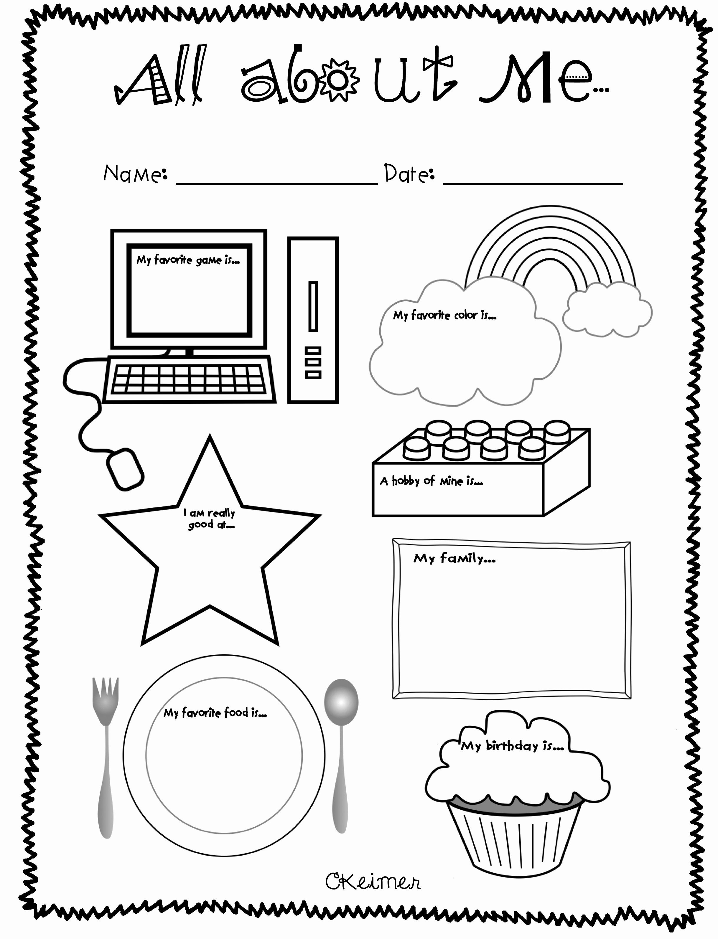 All About Me Worksheet Preschool Fresh All About Me Activities A Multiple Intelligences