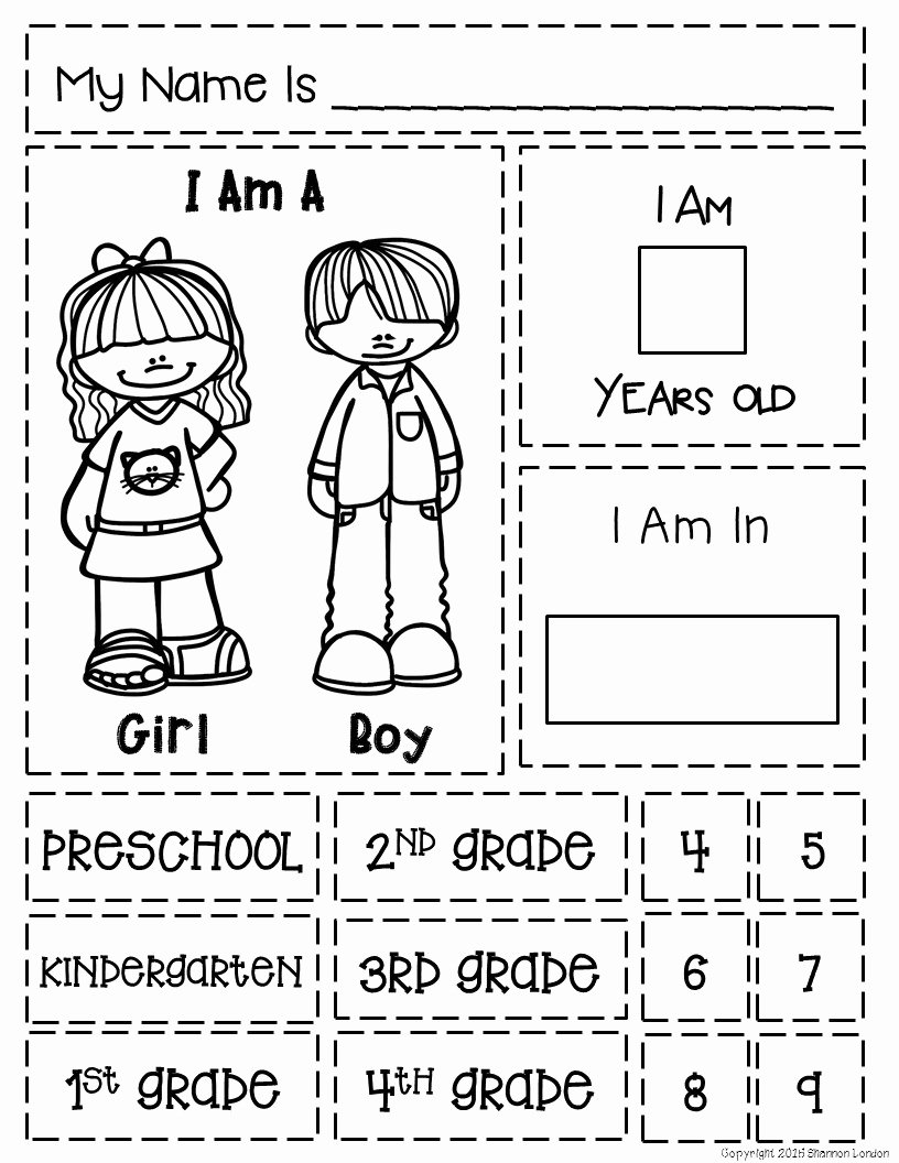 All About Me Worksheet Preschool Fresh All About Me the Perfect Preschool Notebook to Introduce