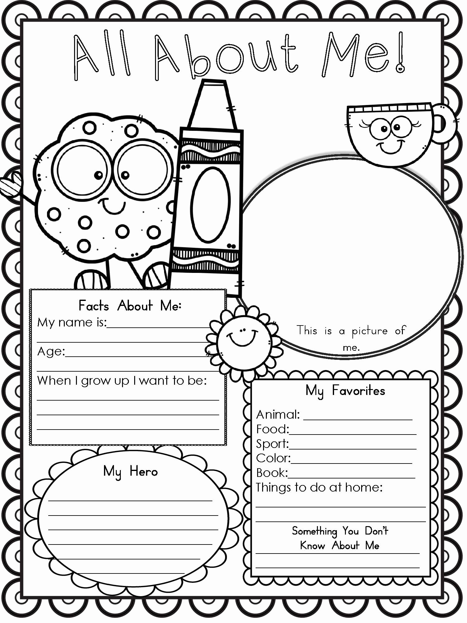 All About Me Worksheet Preschool Inspirational Free Printable All About Me Worksheet Modern Homeschool