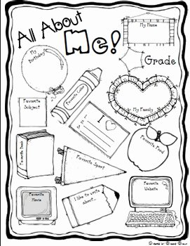"All About Me Worksheet Preschool Inspirational Free ""all About Me"" Back to School Poster"