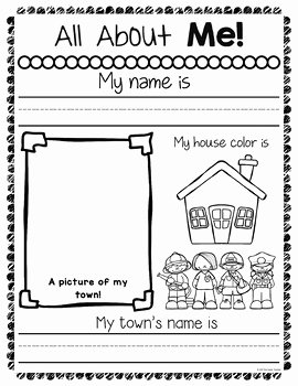 All About Me Worksheet Preschool Luxury All About Me Worksheets by the Super Teacher