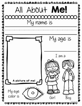 All About Me Worksheet Preschool New All About Me Worksheets by the Super Teacher