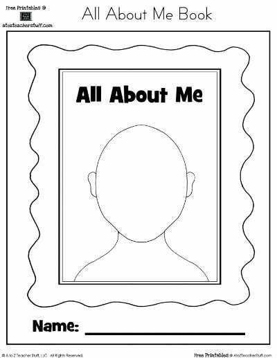 All About Me Worksheet Preschool Unique All About Me Book for Preschool Preschool Items Juxtapost