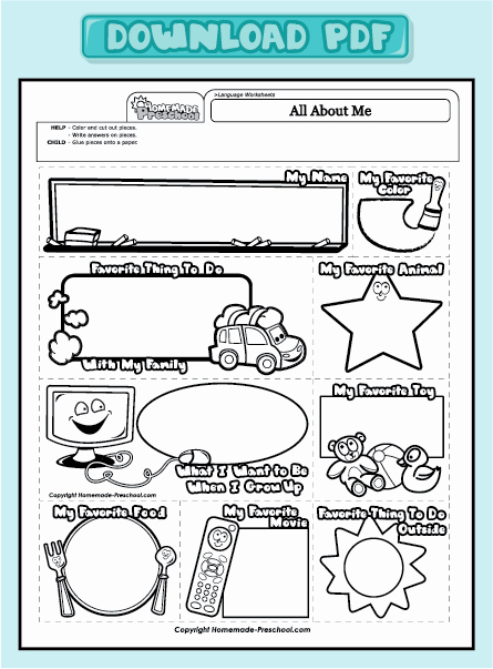 All About Me Worksheet Preschool Unique Fun and Interactive Preschool Worksheets