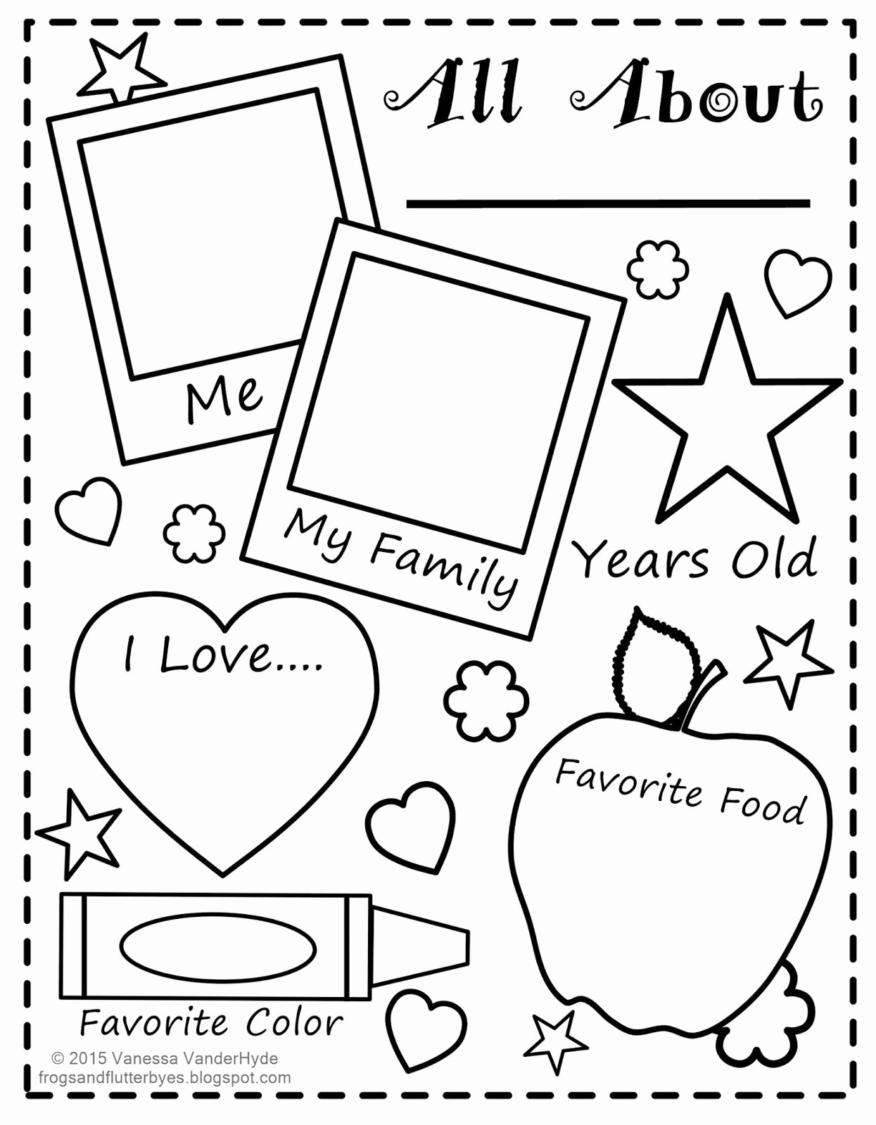 All About Me Worksheet Preschool Unique the Frogs and the Flutterbyes All About Me Free Printable