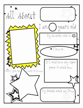 All About Me Worksheet Unique All About Me Worksheet by Teaching with Happy Feet