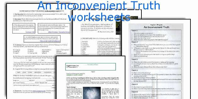 An Inconvenient Truth Worksheet Beautiful An Inconvenient Truth Worksheet