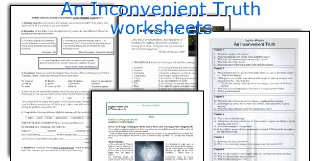 An Inconvenient Truth Worksheet Inspirational English Teaching Worksheets An Inconvenient Truth