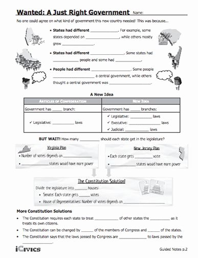 "Anatomy Of the Constitution Worksheet Inspirational This Lesson ""wanted A Just Right Government "" is"