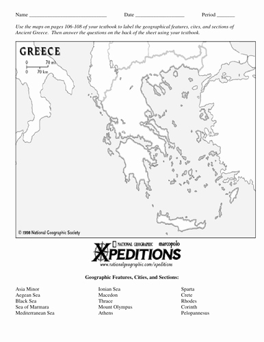 Ancient Greece Map Worksheet Best Of Ancient Greece Map Activity by Linni0011 Teaching