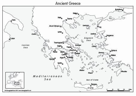 Ancient Greece Map Worksheet Elegant Outline Map Of Ancient Greece and Travel Information