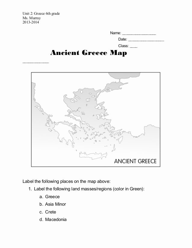 Ancient Greece Map Worksheet Fresh Ancient Greece Map Worksheet