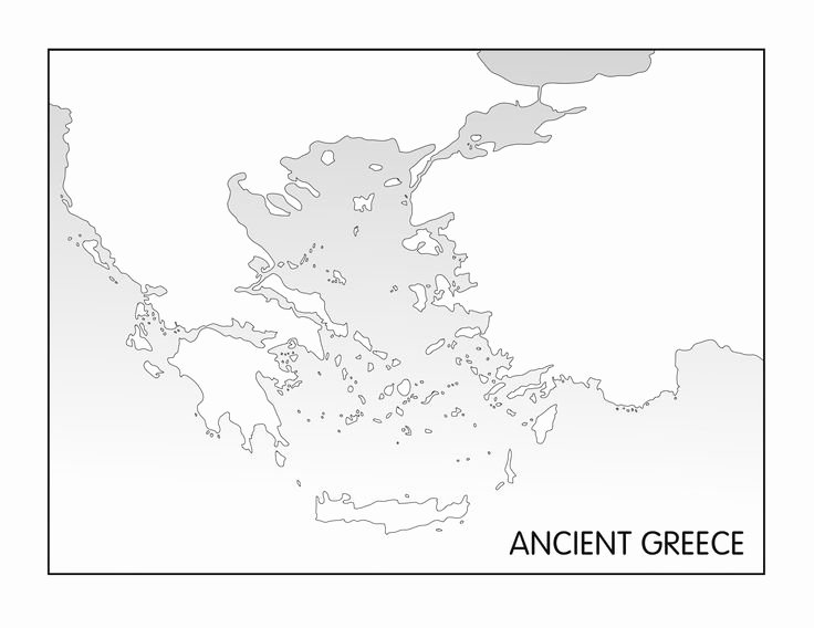 Ancient Greece Map Worksheet Fresh Ancient Greece Printable Blank Map