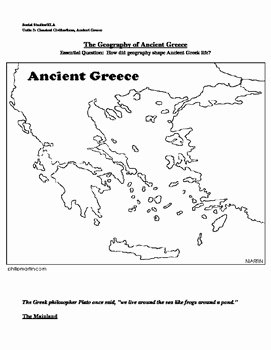 Ancient Greece Map Worksheet Inspirational Ancient Greece Map by Mrsalearno S