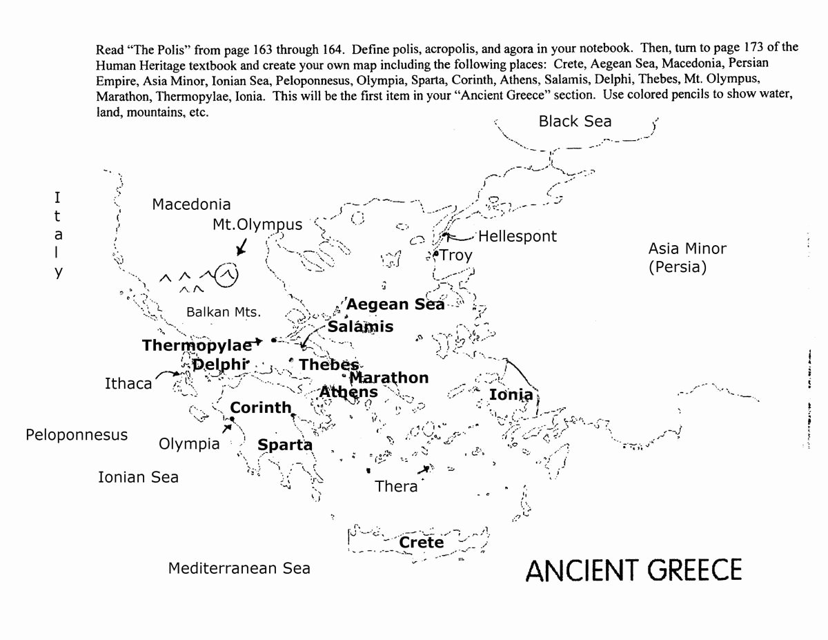 Ancient Greece Map Worksheet Lovely 15 Best Of Ancient Greece Worksheets Middle School