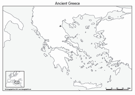 Ancient Greece Map Worksheet Lovely Outline Map Of Ancient Greece and Travel Information